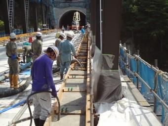 橋梁上部の施工